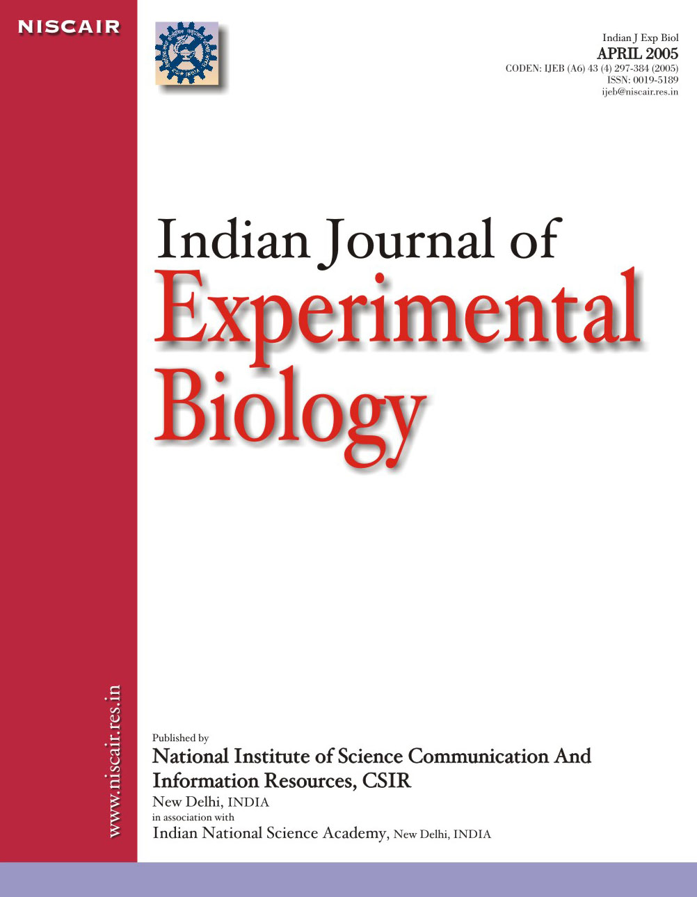 Biology research articles 2013